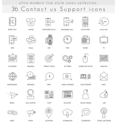 contact us support ultra modern outline vector image