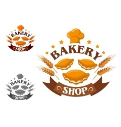 Creative bakery shop vector