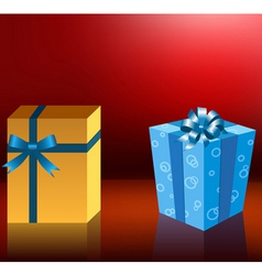 cute holiday gift boxes vector image