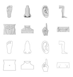 Design of human and part sign collection vector
