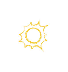 drawing of sun vector image