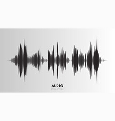 echo audio wavefrom abstract music waves vector image