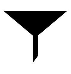 Filter the black color icon vector