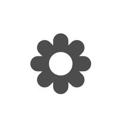 flower icon flat design vector image