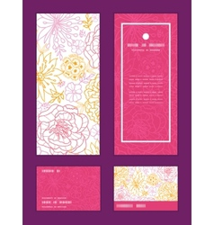 Flowers outlined vertical frame pattern vector
