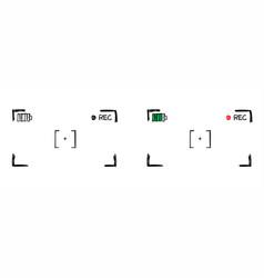 Framed recording sign video camera viewfinder vector