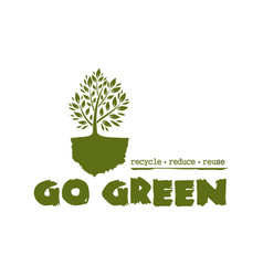 Go green tree logo concept design vector