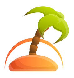 island palm tree icon cartoon style vector image