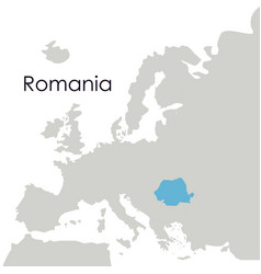 Isolated romania map design vector