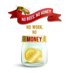 Jar With Money vector