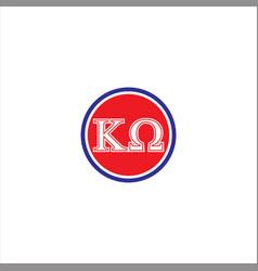 k w letter logo abstract design vector image