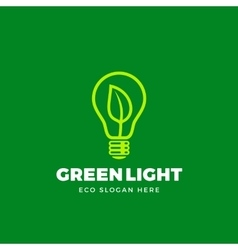 Logo Template Abstract Eco Light Bulb vector