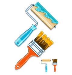 Maintenance tools brushes and vector image