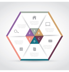 Modern hexagon infographics vector image
