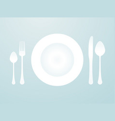 Modern menu placemats plates and cutlery vector