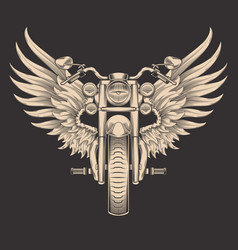 Monochrome of motorcycle with vector