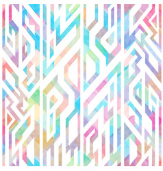 multicolor geometric seamless pattern vector image