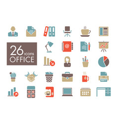 Outline web icon set - office vector