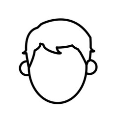 outlined character man male design vector image