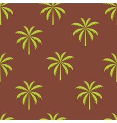 Palm tree seamless pattern vector image