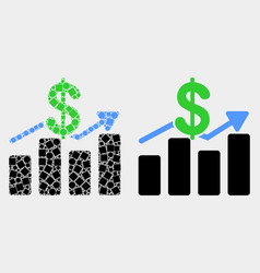 Pixelated and flat dollar trends icon vector