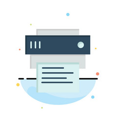 Printer print printing education abstract flat vector