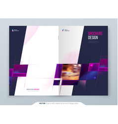 Purple brochure cover template layout corporate vector