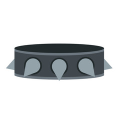 Rock collar icon isolated vector