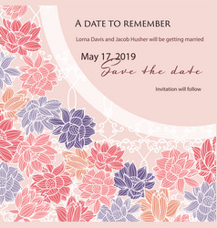 Save the date wedding card template with modern vector