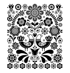 scandinavian cute folk art decoration vector image