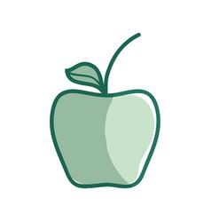 silhouette delicious apple healthy fruit vector image