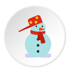 snowman icon circle vector image