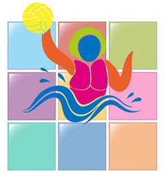 Sport icon for water polo vector image