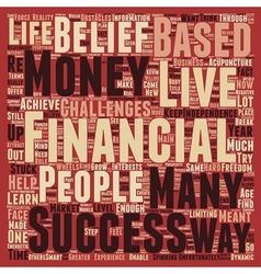 The 3 Biggest Obstacles To Financial Success text vector image
