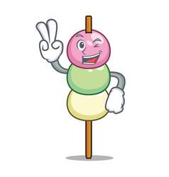 Two finger dango character cartoon style vector