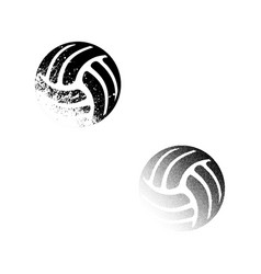 Two valleyball balls vector