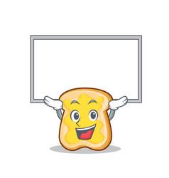 Up board slice bread cartoon character vector