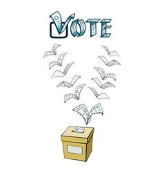 vote or voting vector image
