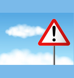 Warning road sign vector