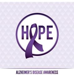 Alzheimers awareness badge vector