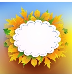 Autumn background with frame for text vector image vector image