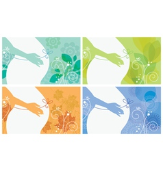 Banner set of silhouette of pregnant woman vector image vector image