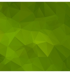 Green abstract background polygon vector image