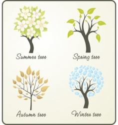 season tree vector image