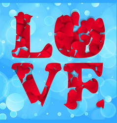 abstract love word happy valentines day greeting vector image