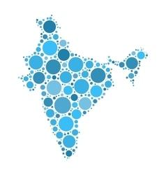 India map mosaic of circles vector image