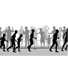 marathon encouragement vector image vector image