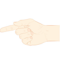 point finger vector image vector image