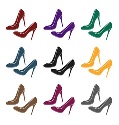 shoes with stiletto heel icon in black style vector image vector image