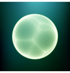 The Sphere Consisting of Points 3D Glowing Grid vector image